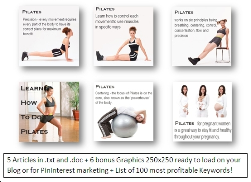 Pilates PLR articles withGraphics