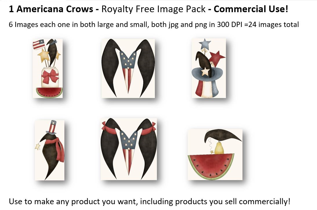 Whimsical Primitive Royalty Free Clip Art - Commercial Use