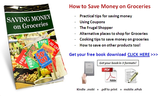 save money on groceries free book