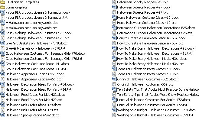 these articles are delivered by instant download 247 - Article About Halloween