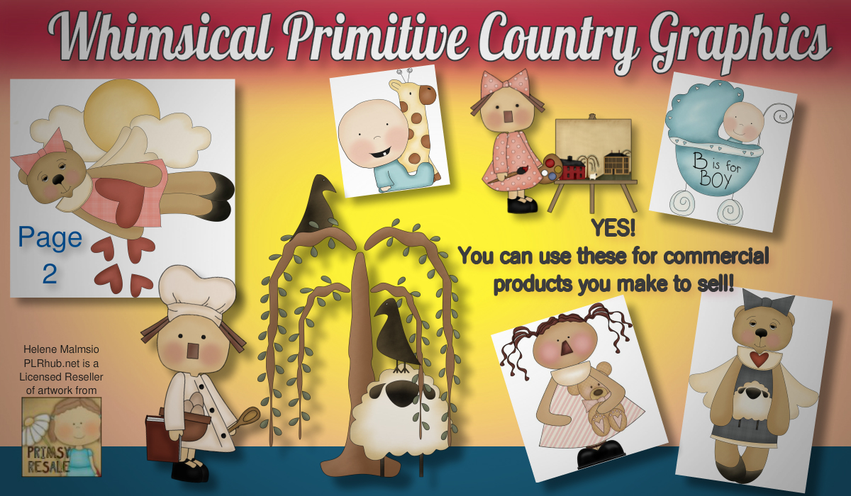 Whimsical Primitive Royalty Free Clip Art Page 2