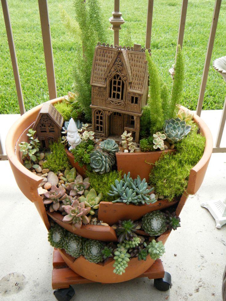 fairy garden on pinterest
