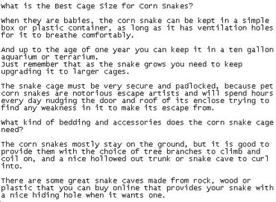 Sample of pet snake PLR article content